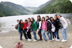 Students in Glendalough
